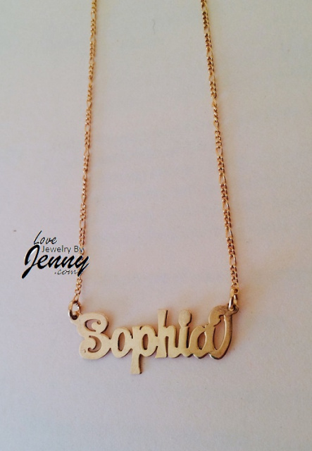 Kids Solid Real 10K Gold Name Plate (single plate) with free chain/ Personalized, High Polished