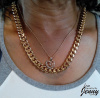 "18K Gold Overlay 10 mm Cuban (Curb) Link Heavy Chain Necklace (18"", 20"")"