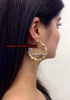 14k Gold Overlay GP bamboo 2 inch name earrings/ PERSONALIZED/pair